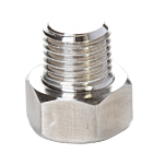 """Hex Nut Gas Inlet 1/4"""" M-NPT With 3mm Hole"""