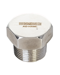 "Hex Nut Gas Inlet 3/4"" M-NPT"
