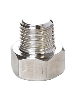 "Hex Nut Gas Inlet 1/4"" M-NPT With 3mm Hole"