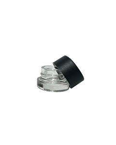 Clear 5ml Extracts Jar Black Lid