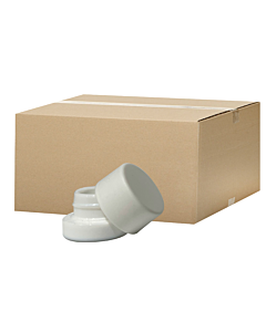 Box of 350 5ml Glass Extracts Jars - White Jar White Lid