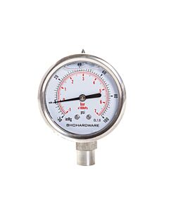 Vacuum PSI Gauge 60mm - 30 Hg 100 - PSI