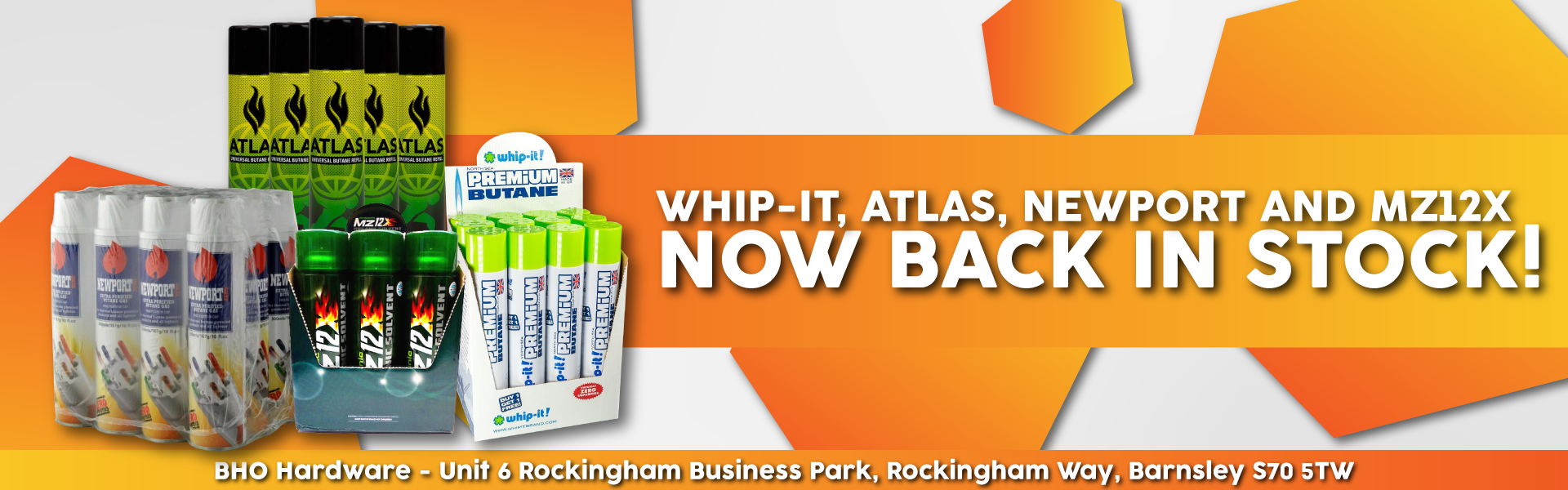 Whip It 420ml, Atlas, Newport and MZ12X now in stock.